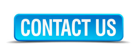 contact us blue 3d realistic square isolated button Vector