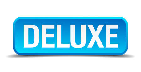 sexual selection: deluxe blue 3d realistic square isolated button