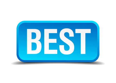 accomplish: best blue 3d realistic square isolated button