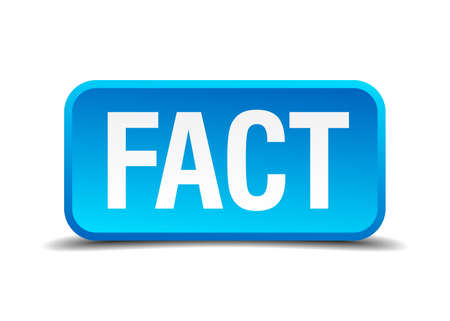 fact: fact blue 3d realistic square isolated button Illustration