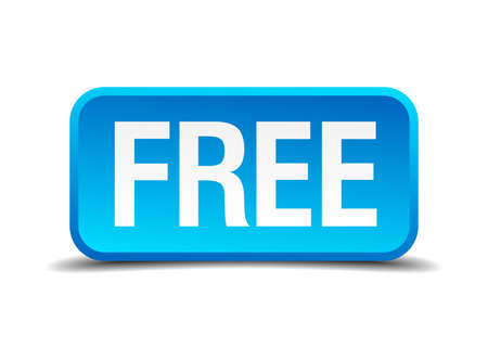 freebie: free blue 3d realistic square isolated button