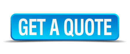 get a quote blue 3d realistic square isolated button Vectores