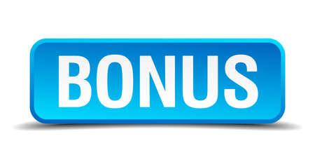 freebie: Bonus blue 3d realistic square isolated button