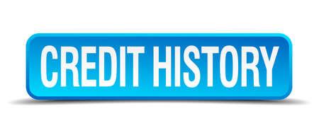 personal banking: storia di credito blu 3d pulsante quadrato realistico isolato