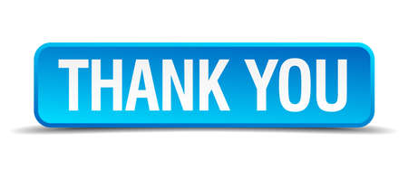thanks a lot: Thank you blue 3d realistic square isolated button Illustration