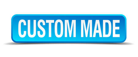 condense: custom made blue 3d realistic square isolated button