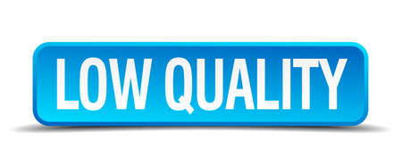 低品質ブルー 3 d 現実的な正方形分離ボタン  イラスト・ベクター素材