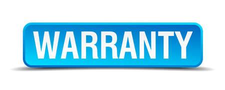surety: Garanzia blu 3d pulsante quadrato realistico isolato