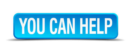 join our team: You can help blue 3d realistic square isolated button