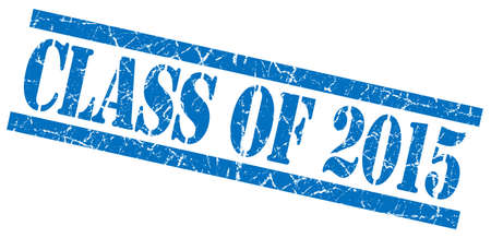 grungy isolated: class of 2015 blue square grungy isolated rubber stamp