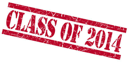 grungy isolated: class of 2014 red square grungy isolated rubber stamp