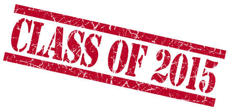 grungy isolated: class of 2015 red square grungy isolated rubber stamp Stock Photo