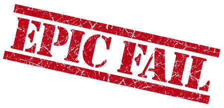owned: epic fail red grungy stamp isolated on white background