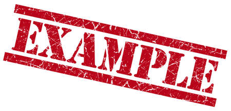 example red grungy stamp isolated on white background