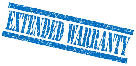 extensively: extended warranty blue grungy stamp isolated on white background Stock Photo
