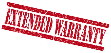 extended warranty red grungy stamp isolated on white background