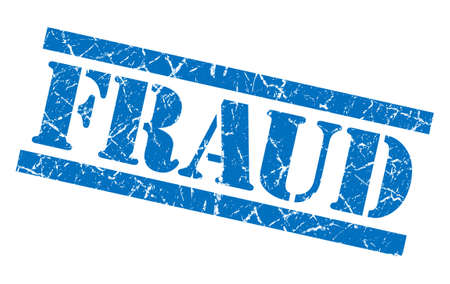 hoax: fraud blue grungy stamp isolated on white background Stock Photo