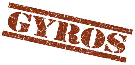 gyros brown grungy stamp on white background photo