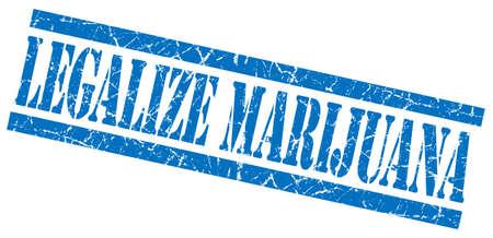legalize: legalize marijuana blue grungy stamp on white background Stock Photo