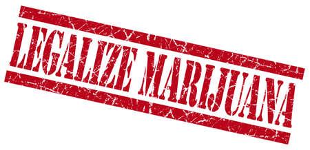 legalize: legalize marijuana red grungy stamp on white background