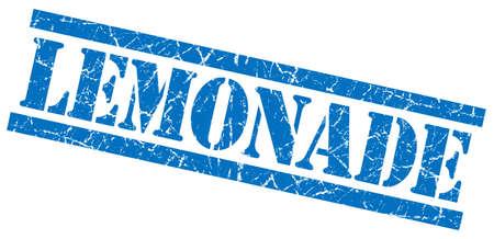 lemonade blue grungy stamp on white background photo