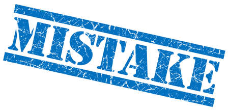 fallacy: mistake blue grungy stamp on white background Stock Photo