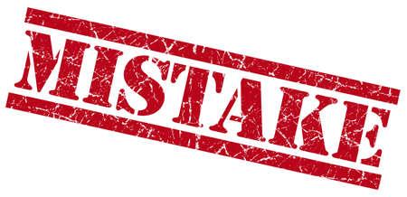 poronienie: błąd czerwony grungy pieczęć na białym tle