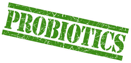 embody: probiotics green grunge stamp isolated on white