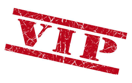 private i: vip red square grunge textured isolated stamp
