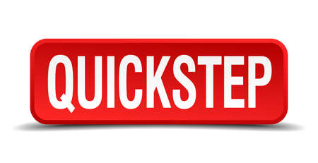 precedency: Quickstep red 3d square button isolated on white Illustration