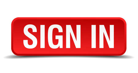 join here: Sign in red 3d square button isolated on white