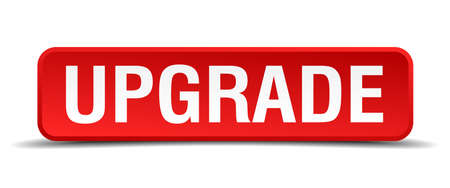 refreshed: Upgrade red 3d square button isolated on white Illustration
