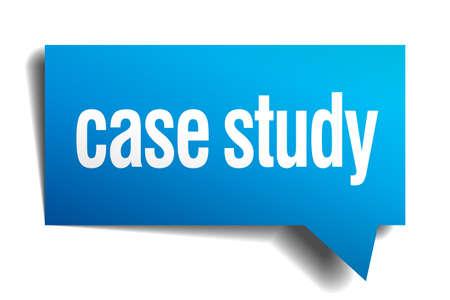 cogitation: case study blue 3d realistic paper speech bubble