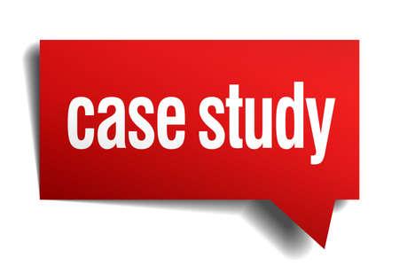 casing: case study red 3d realistic paper speech bubble