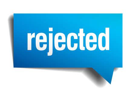 precedency: rejected blue 3d realistic paper speech bubble