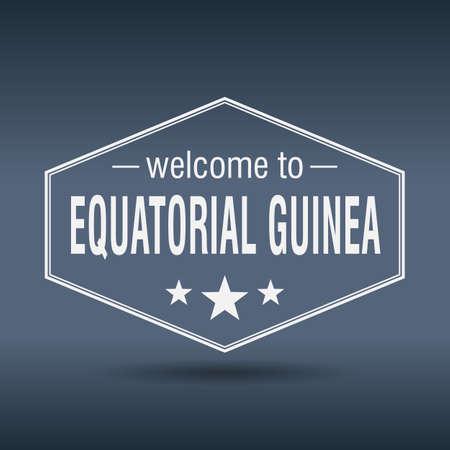 guinea equatoriale: Benvenuti a Guinea Equatoriale esagonale white label epoca