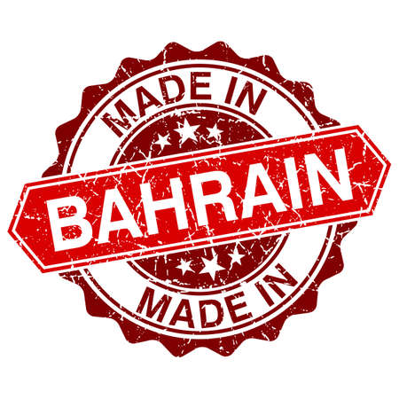 made in Bahrain red stamp isolated on white background Vector