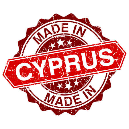 made in Cyprus red stamp isolated on white background Vector