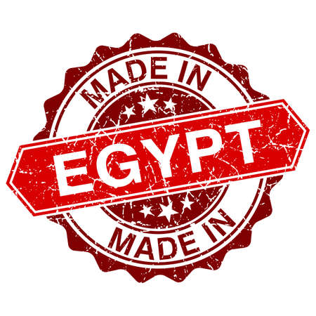 made in Egypt red stamp isolated on white background Vector