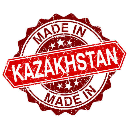 made in Kazakhstan red stamp isolated on white background Vector