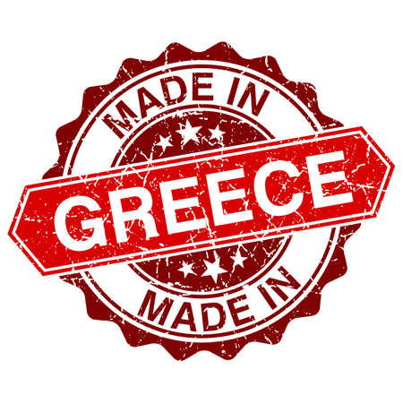 made in greece stamp: made in Greece red stamp isolated on white background Illustration