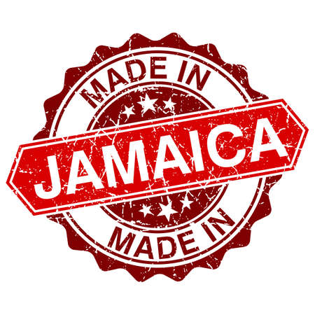 made in Jamaica red stamp isolated on white background Vector