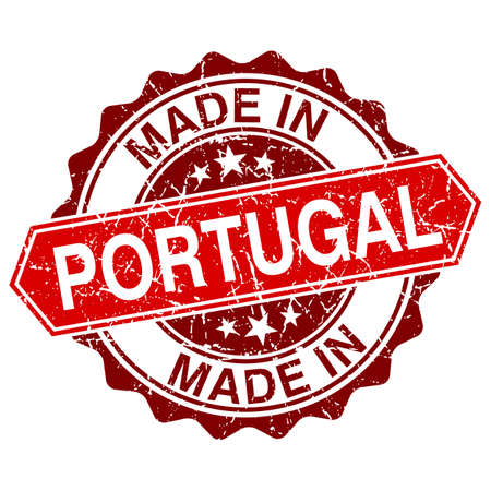 made in portugal: made in Portugal red stamp isolated on white background