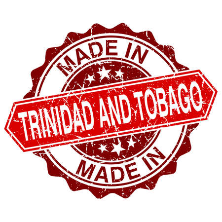 made in Trinidad and Tobago red stamp isolated on white background Vector