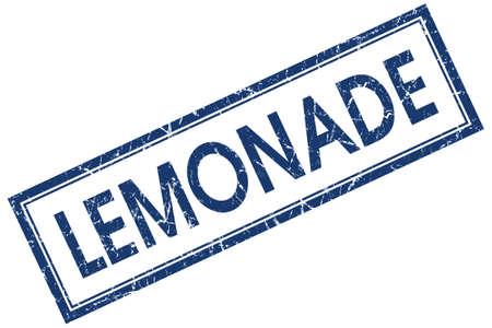 lemonade blue square stamp isolated on white background photo