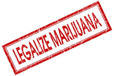 legalize: legalize marijuana red square stamp isolated on white background Stock Photo