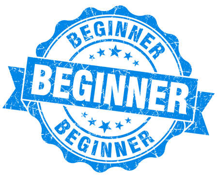 beginner: beginner blue vintage isolated seal