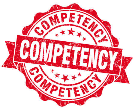 competency: competency red vintage isolated seal Stock Photo