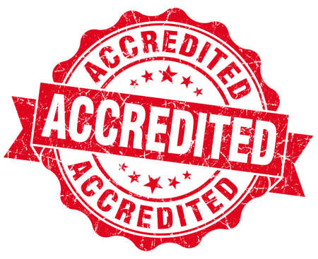 accredited: accredited red vintage isolated seal Stock Photo