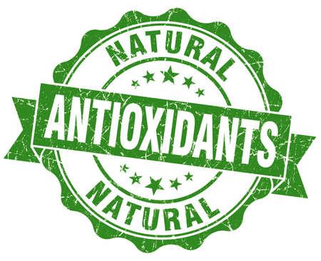 antioxidants green vintage isolated seal
